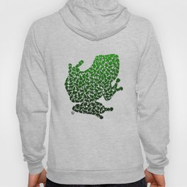100 Poison Frogs - Green Hoody