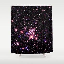Quintuplet Cluster Pink Coral Violet Shower Curtain