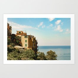 House on the Coast of Cinque Terre Art Print