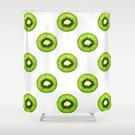 Kiwi Fruit Slice Shower Curtain