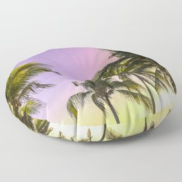 PURPLE AND GOLD SKIES 2 Floor Pillow