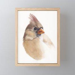 Lady Cardinal Framed Mini Art Print