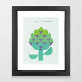 Vegetable: Artichoke Framed Art Print