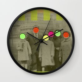 Fluo Family Wall Clock
