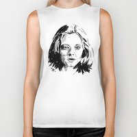 silence of the lambs Biker Tanks featuring Clarice Starling Sketch - The Silence of the Lambs by Soyarts
