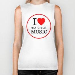 I Love Classical Music, circle Biker Tank