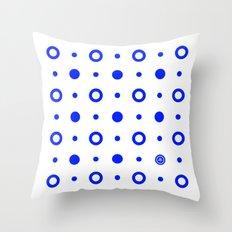 Dots / White Throw Pillow