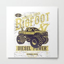 Big Foot Retro Metal Print