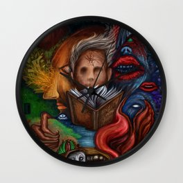 """Within 2 Worlds"", A Painting by Landon Huber Wall Clock"