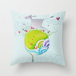 """L'âne rit"" Throw Pillow"