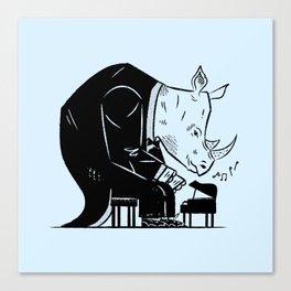 Rhinoceros Rhapsody Canvas Print