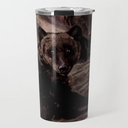Vintage Brown Bear Painting (1909) Travel Mug
