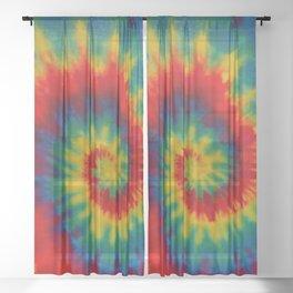 Tie Dye 1 Sheer Curtain