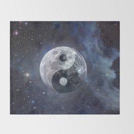Yin Yang Moon Throw Blanket