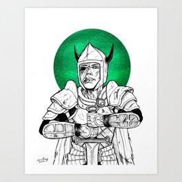 Clovis, the Undead Warrior Queen of Green Falls Tomb Art Print