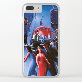 Bronzeville at Night by Archibald Motley Clear iPhone Case