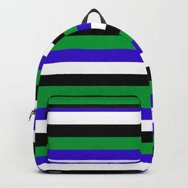 Lesotho flag stripes Backpack