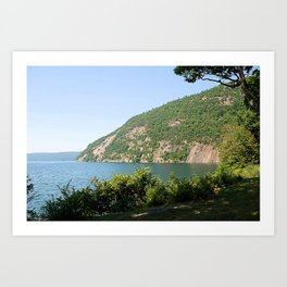Roger's Rock on Lake George, NY Art Print