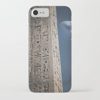 egyptian iPhone & iPod Cases featuring Egyptian Moon by Vin Zzep