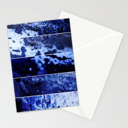Blue Magnification (Five Panels Series) Stationery Cards