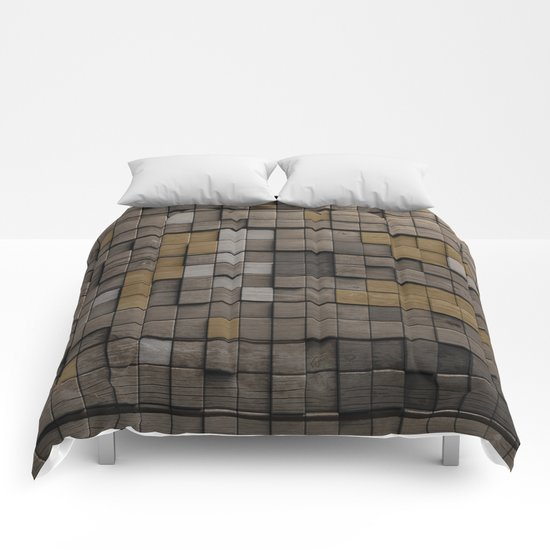 Wood pattern Comforters