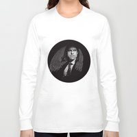 gangster Long Sleeve T-shirts featuring Gangster Engraving by George Peters