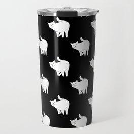 Cute cats pattern | Black Travel Mug