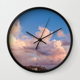 Sky on the bay of Naples Wall Clock