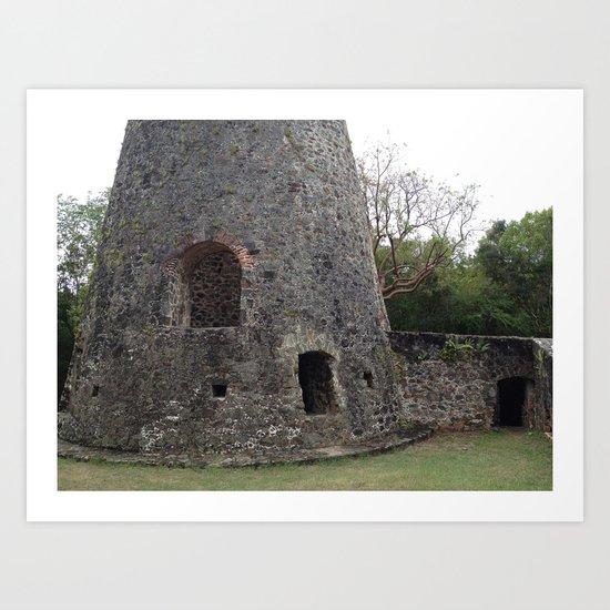Virgin Islands, Sugar Mill Stone Ruins Art Print