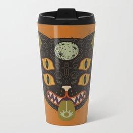 Spooky Cat Metal Travel Mug