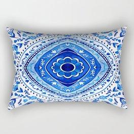Indigo Mandala Tapestry Pattern 2 Rectangular Pillow