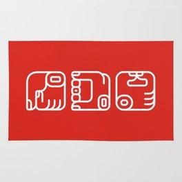 Mayan Glyphs ~ Hands Rug