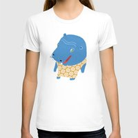hippo T-shirts featuring Hippo by Jennifer Nystedt