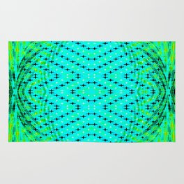 FLUX #3  Optical Illusion Vibrant Colorful Psychedelic Trippy Design Rug