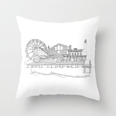 The Jersey Shore by the Downtown Doodler Throw Pillow
