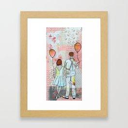 Balloons and Love Framed Art Print