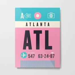 Baggage Tag A - ATL Atlanta USA Metal Print