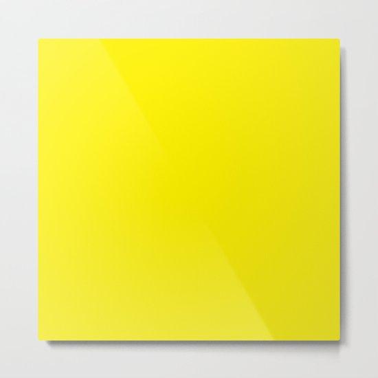 Simply Bright Yellow Metal Print
