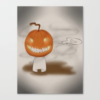 cryaotic Canvas Prints featuring Boo! by JoceyArt