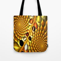 fractal Tote Bags featuring Fractal by Digital-Art