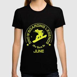 Snowboarding T-Shirt June Birthday Apparel T-shirt