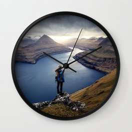 Epic Faroe Islands Wall Clock