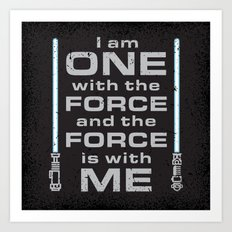 Force is with Me - Blue&Black Art Print