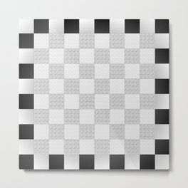 Chess Pad Metal Print
