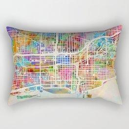 Chicago City Street Map Rectangular Pillow