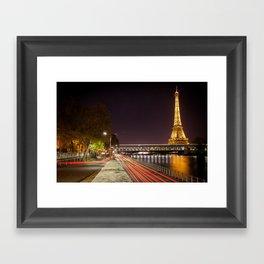 Paris rush hour Framed Art Print