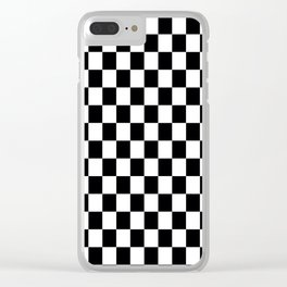 Checkered Flag Clear iPhone Case