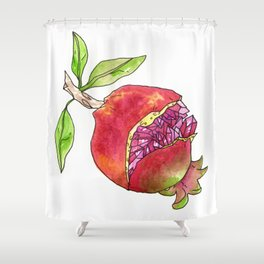 jeweled pomegranate Shower Curtain
