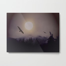 Sun above the steamy mountains Metal Print