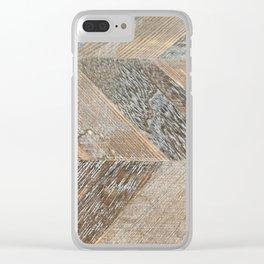 Wood Grain Texture Clear iPhone Case